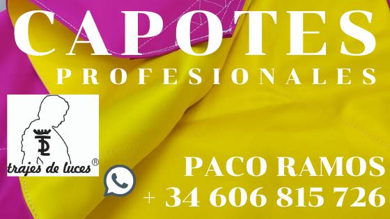 Capotes y muletas de Paco Ramos